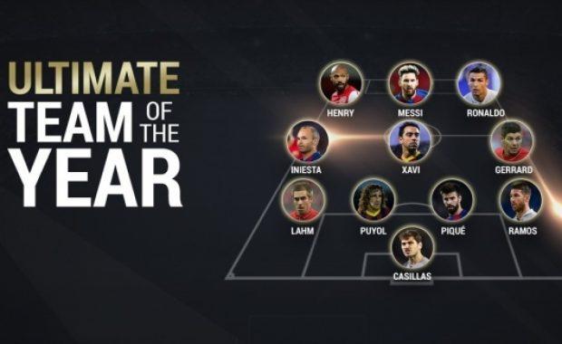 """УЕФА избра """"Идеалния отбор на века"""""""
