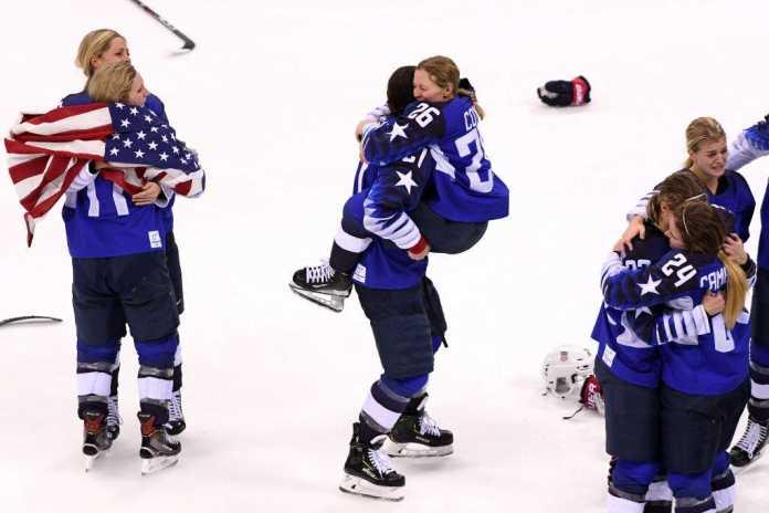 Ice Hockey Winter Olympics Day USA