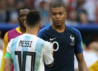 Messi Mbappe