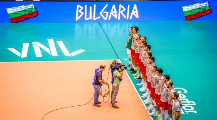 Bulgarianplayersduringthenationalanthems
