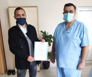 Браво! Янтра направи дарение за COVID–отделението на габровската болница